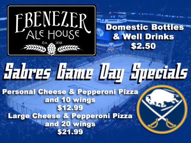 Buffalo Sabres Hockey Game Specials - Pizza and wing specials