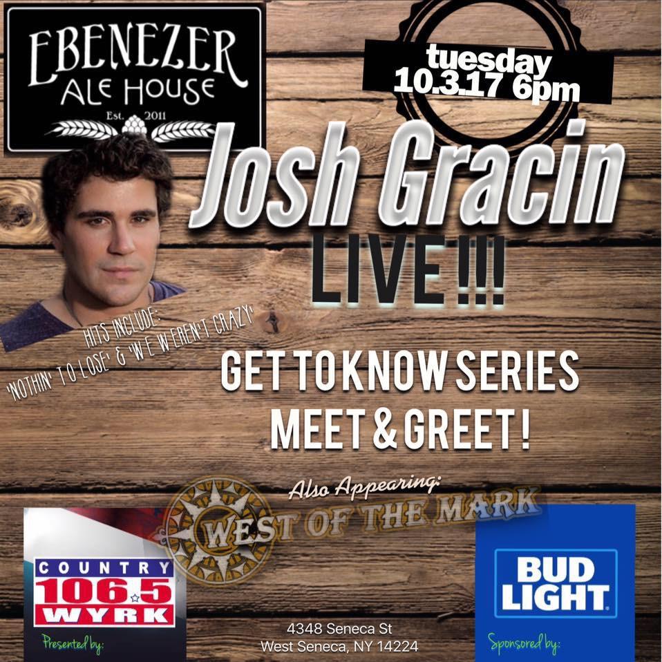Josh Gracin - Get to Know Event